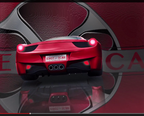 a screenshot of a exotic car for a BCIT project